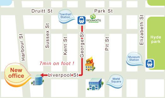 ジャパンセンターオーストラリア地図